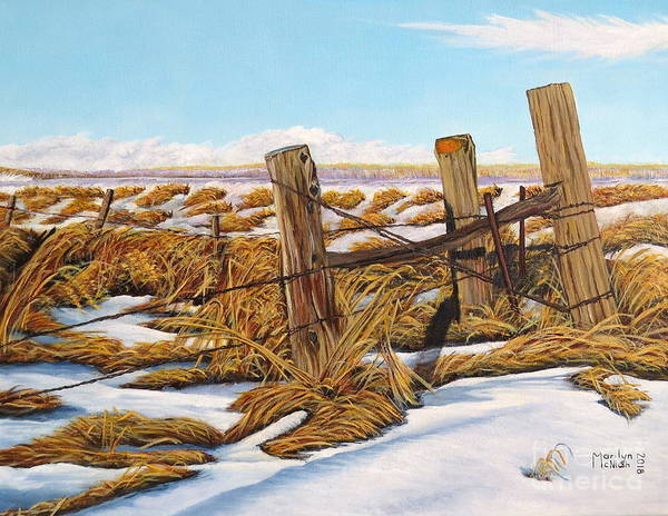 Painting - 3 Olds Posts 3 by Marilyn McNish