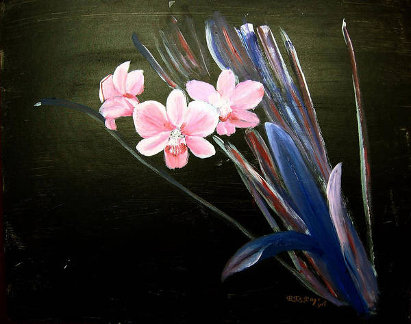 Painting - 3 Orchids by Richard Le Page