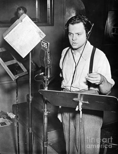 Broadcast Photograph - Orson Welles (1915-1985) by Granger