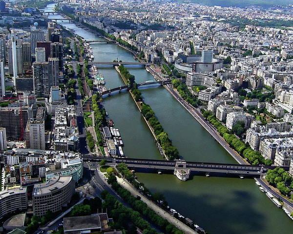 Photograph - Paris Aerial View by Anthony Dezenzio