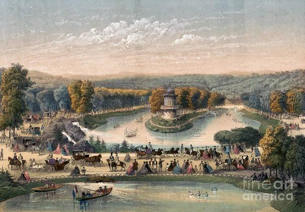 Drawing - Paris, Bois De Boulogne.  by Granger