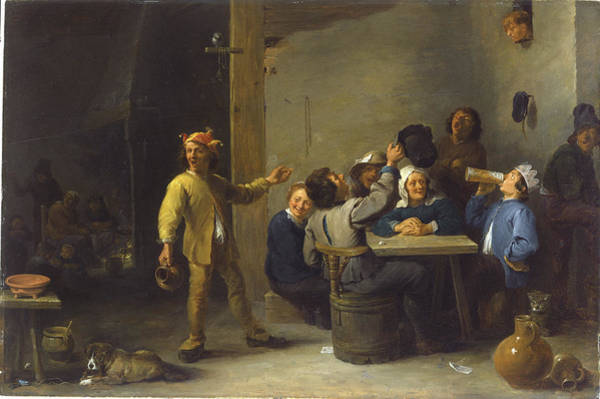 Painting - Peasants Celebrating Twelfth Night by David Teniers The Younger