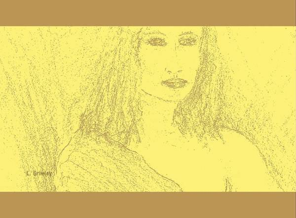 Wall Art - Drawing - Pensive by Lessandra Grimley