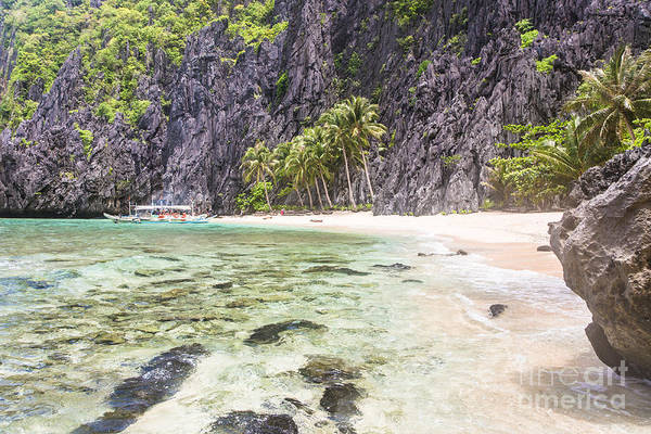 Photograph - Perfect Beach In The Stunning Bacuit Archipelago In El Nido  by Didier Marti