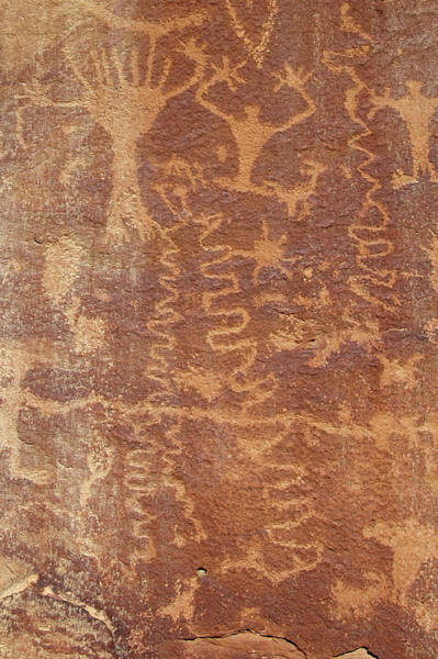 Art Print featuring the photograph Petroglyph - Fremont Indian by Breck Bartholomew