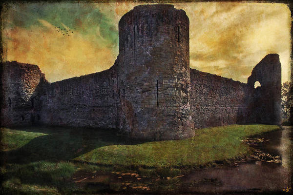 Photograph - Pevensey Castle Ruins by Chris Lord