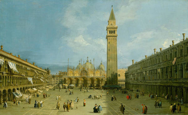 Painting - Piazza San Marco by Canaletto