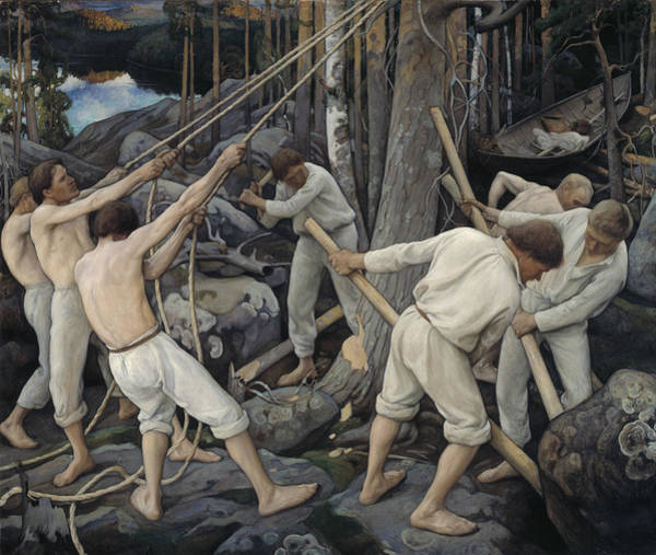 Painting - Pioneers In Karelia  by Pekka Halonen