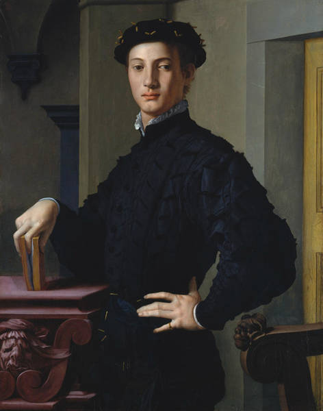 16th Century Wall Art - Painting - Portrait Of A Young Man by Agnolo Bronzino