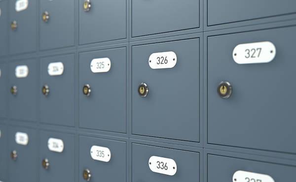Post Office Boxes Art Print