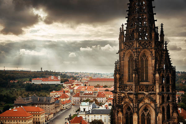 Photograph - Prague Castle by Songquan Deng