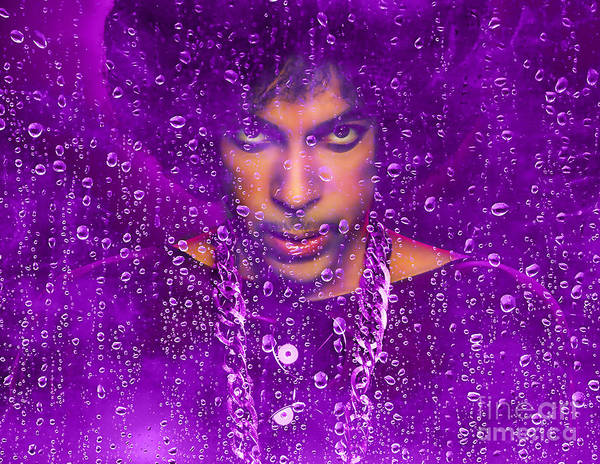 Cool Mixed Media - Prince Purple Rain Tribute by Marvin Blaine