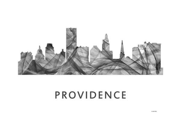 Rhode Island Digital Art - Providence Rhode Island Skyline by Marlene Watson