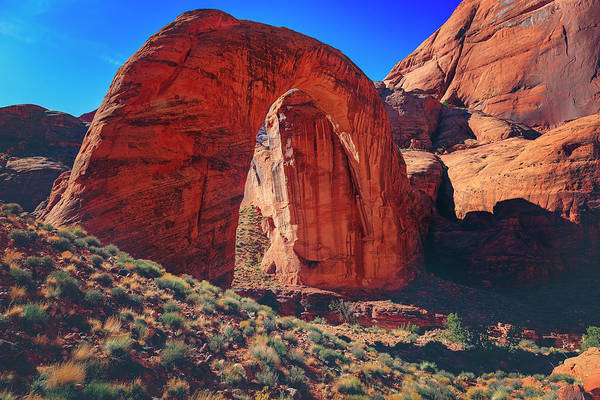 Photograph - Rainbow Bridge Monument by Peter Lakomy