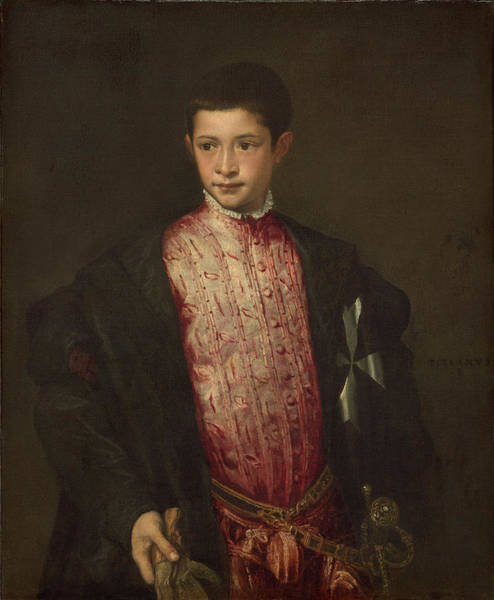 Painting - Ranuccio Farnese by Titian