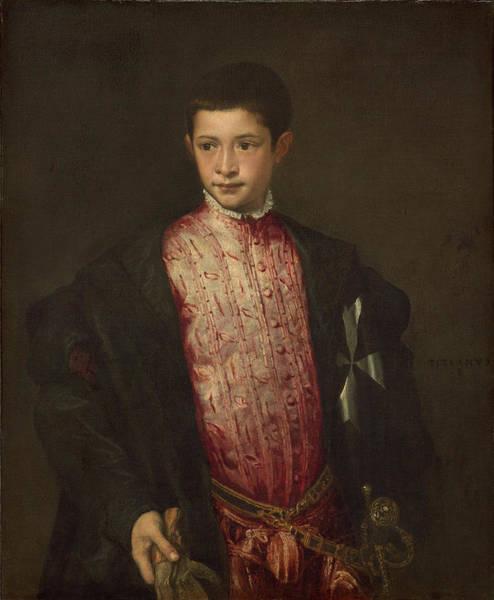 Italian Painters Wall Art - Painting - Ranuccio Farnese by Titian