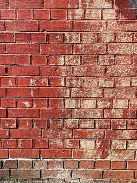 Wall Art - Photograph - Red Brick Wall by Tom Gowanlock