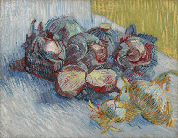 Wall Art - Painting - Red Cabbages And Onions by Vincent van Gogh
