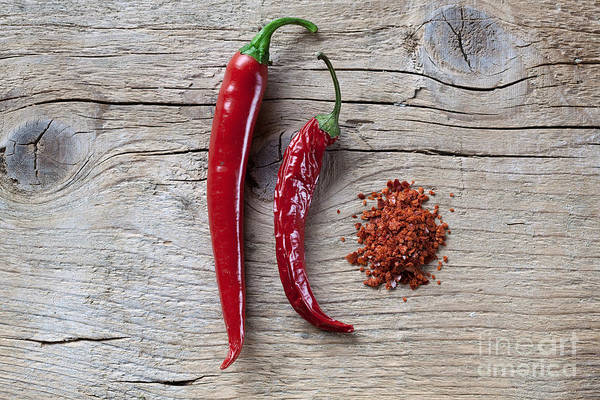 Green Vegetable Photograph - Red Chili Pepper by Nailia Schwarz