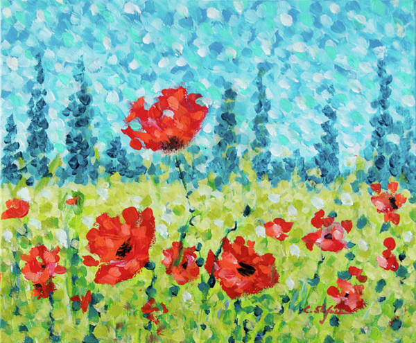 Painting - Red Poppies by Cristina Stefan