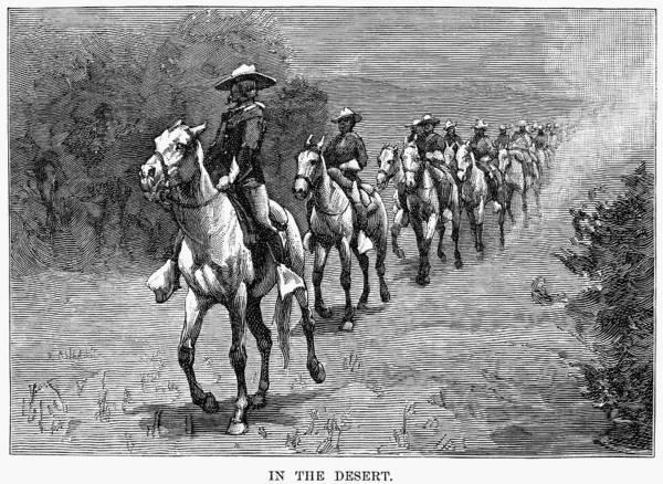 Remington Photograph - Remington: 10th Cavalry by Granger