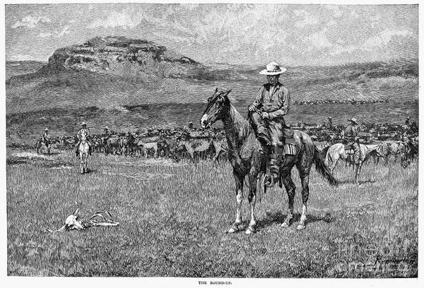 Remington Photograph - Remington: Cowboy, 1888 by Granger