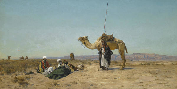 Painting - Rest In The Syrian Desert by Eugen Bracht