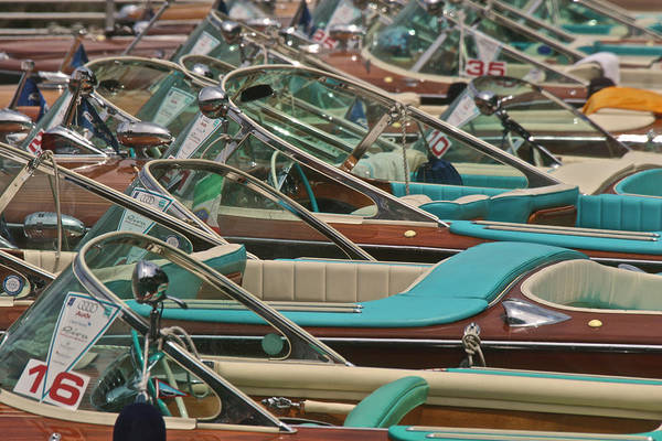 Photograph - Riva Runabouts by Steven Lapkin