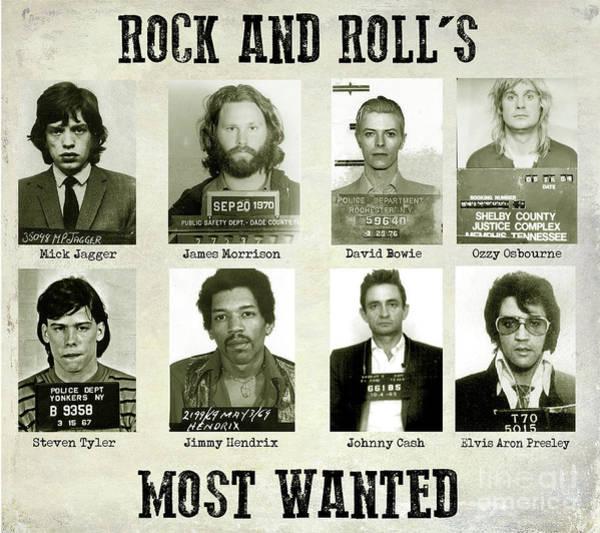 Wall Art - Photograph - Rock And Rolls Most Wanted by Jon Neidert