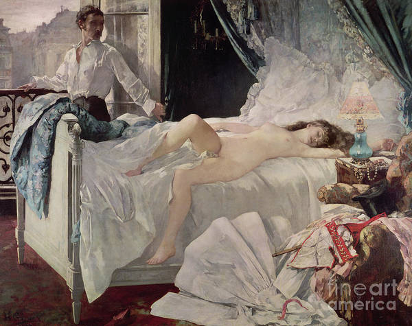 Corset Painting - Rolla by Henri Gervex