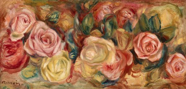 Wall Art - Painting - Roses by Pierre-Auguste Renoir