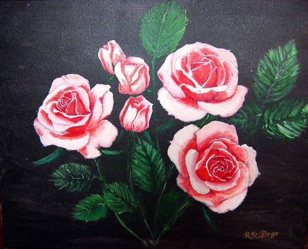 Painting - 3 Roses by Richard Le Page
