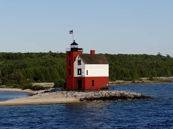 Photograph - Round Island Lighthouse by Keith Stokes