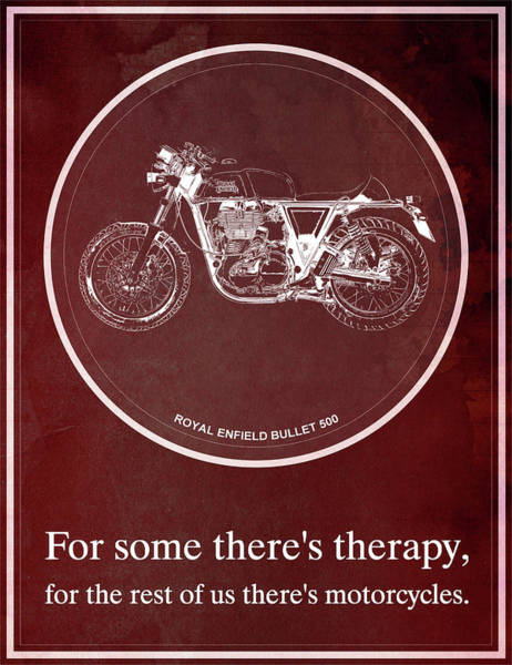 Classroom Painting - Royal Enfield Bullet 500 And Motorcycle Quote by Drawspots Illustrations