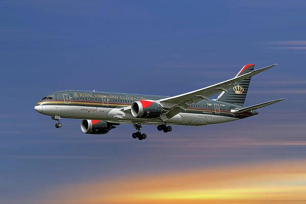 Wall Art - Mixed Media - Royal Jordanian Boeing 787-8 Dreamliner by Smart Aviation