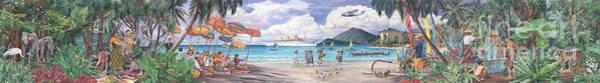 Wall Art - Painting - Royal Pacific Mural by Emmanuel De Guzman