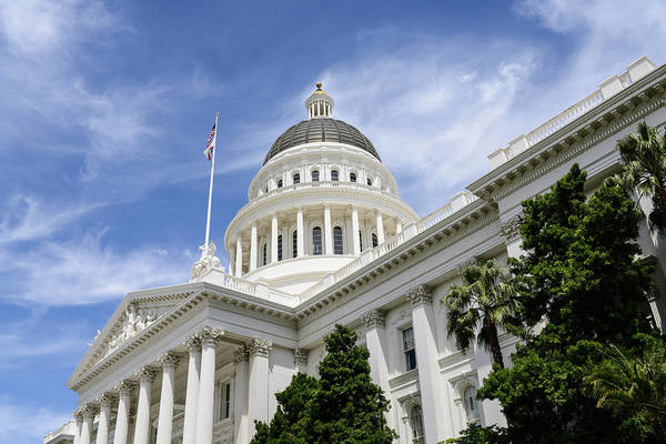 Photograph - Sacramento Capitol Building Of California by Brandon Bourdages
