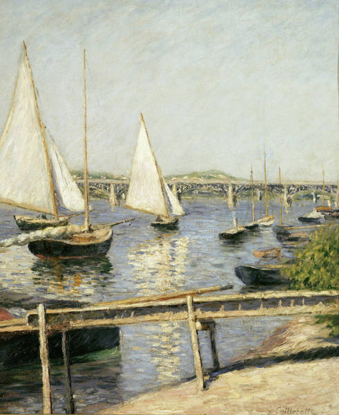 Wall Art - Painting - Sailing Boats At Argenteuil by Gustave Caillebotte