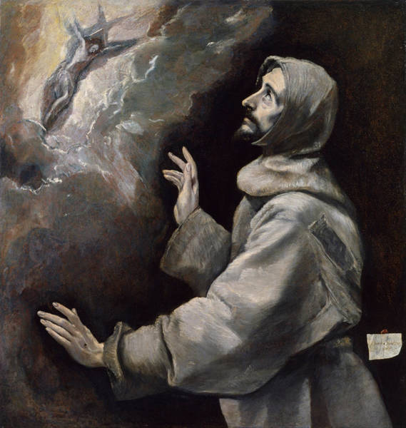 Painting - Saint Francis Receiving The Stigmata by El Greco