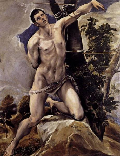 Painting - Saint Sebastian by El Greco