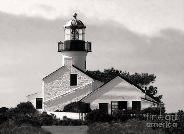 Painting - San Diego Point Loma Peninsula Lighthouse by Gregory Dyer