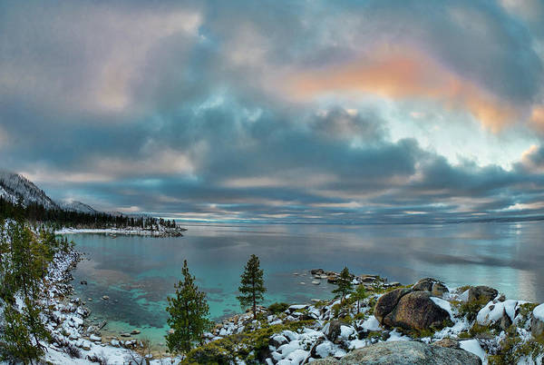 Photograph - Sand Harbor Sunset by Martin Gollery