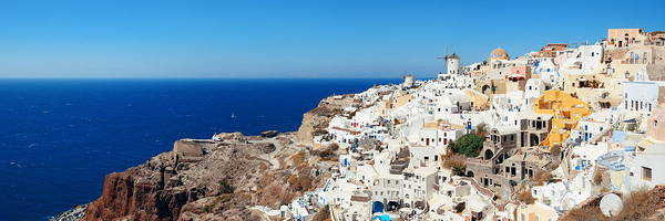 Photograph - Santorini Skyline by Songquan Deng