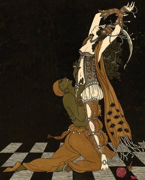 Dancing Men Painting - Scheherazade by Georges Barbier