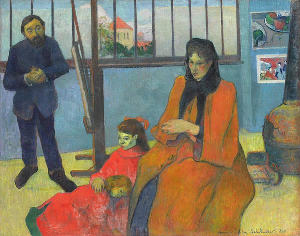 Style Painting - Schuffenecker's Studio by Paul Gauguin