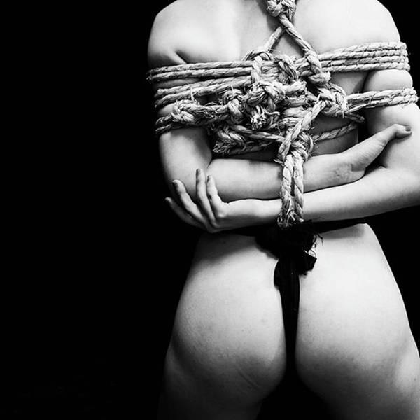 Art Nude Wall Art - Photograph - Shibari  Photo&rope: by Nana Shi