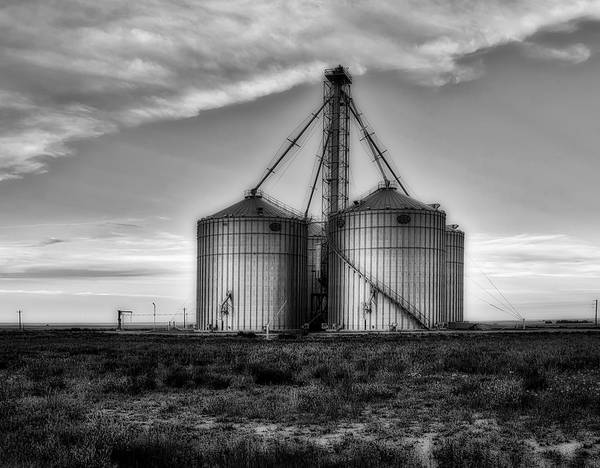Grain Elevator Photograph - Silos At Sunset by Mountain Dreams