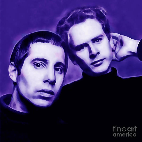 Simon And Garfunkel Mixed Media - Simon And Garfunkel by Marvin Blaine