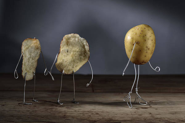 Wall Art - Photograph - Simple Things - Potatoes by Nailia Schwarz