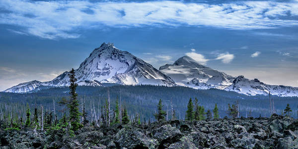 Photograph - 3 Sisters Of Oregon Cascades by Bill Posner